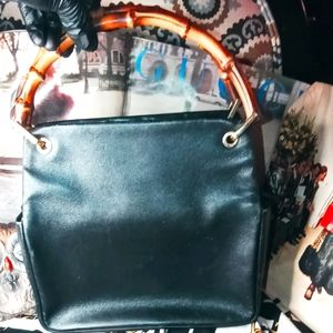 Gucci bamboo top handle Leather bag